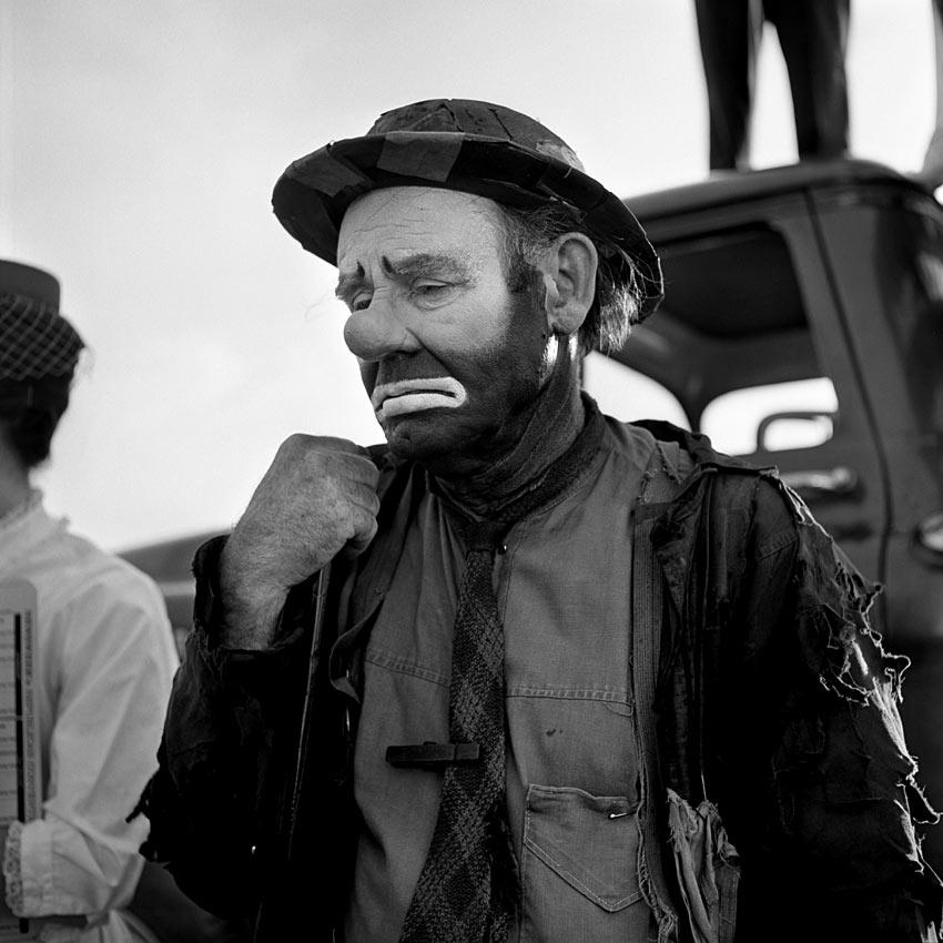 Emmett Kelly as the clown figure 